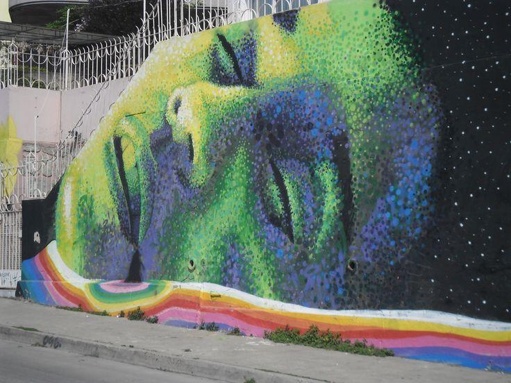 Mural en la Avenida Alemania