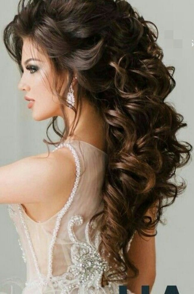 Pin By Alma Torres On Beauty In 2018 Elegant Wedding Hair Curly