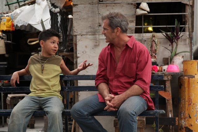 Mel Gibson and Kevin Hernandez in 'Get the Gringo'