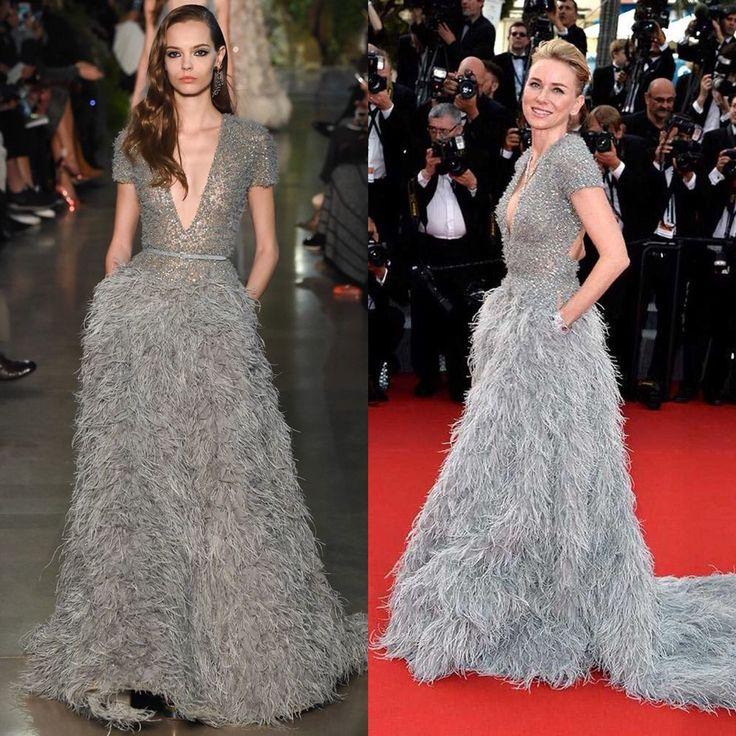 Naomi Watts in Elie Saab gown.  Cannes 2015