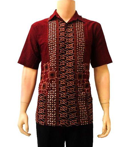Kemeja Batik Pria Sutra: Kemeja Batik Pria Motif Kombinasi