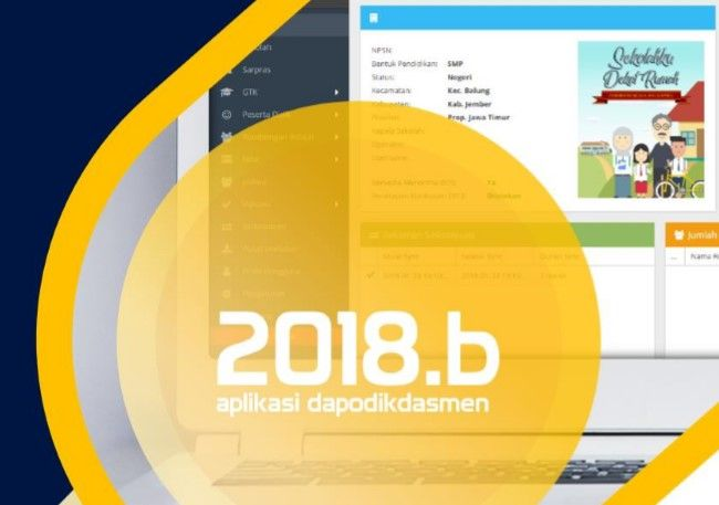 Panduan Aplikasi Dapodik 2018b Pdf Aplikasi Smp Ember