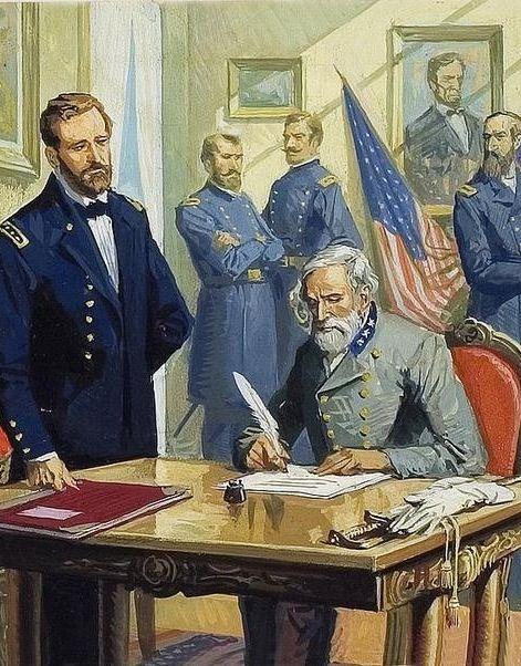 Sad General Robert Lee Surrendered Confederate General