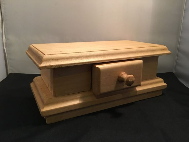 Unfinished Wood Craft Jewellery Box with Drawer for DIY Project (WC17-2) in Crafts, Multi-Purpose Craft Supplies, Crafting Pieces | eBay!