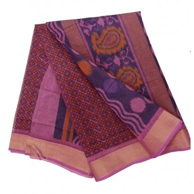 Pure Cotton Pink Saree Traditional Ethnic Dress Women Wear Indian Casual Sari