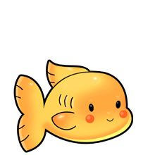Cute goldfish baby