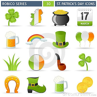 St. Patrick Icons - Robico Series by Roberto1977, via Dreamstime