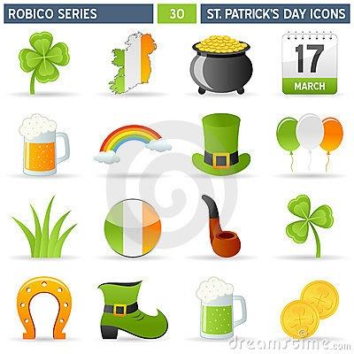 St. Patrick Icons - Robico Series by Roberto1977, via Dreamstime