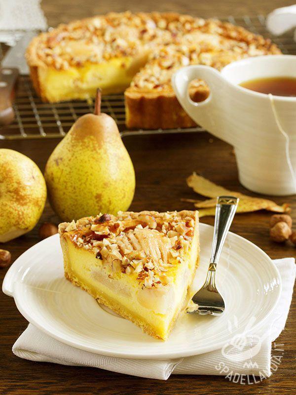 Soft ricotta tart and pear - La Crostata morbida di ricotta e pere rappresenta una variante appetitosa della crostata con le pere, ed è davvero una delle più gustose! Intramontabile!