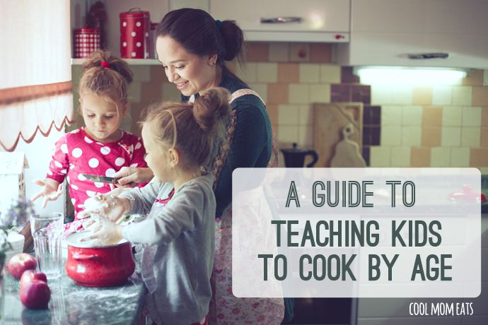 Terrific tips for getting kids in the kitchen: A handy guide to teaching kids various cooking skills by age. Even knife skills. Let's get more kids cooking!  | Cool Mom Eats