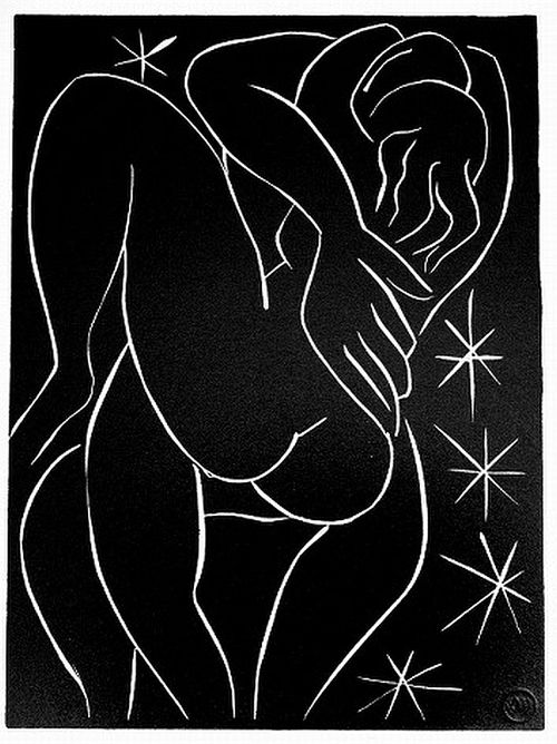 Henri Matisse, An interpretation of a phrase from Montherlant's Pasiphaé, Linocut, ca. 1940s.