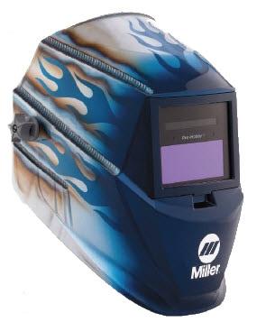 Miller Welding Helmet - Blue Heat Pro Hobby Lens 250366