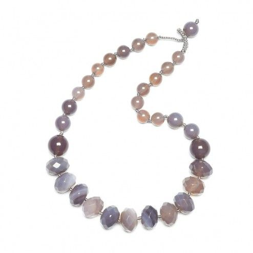 Lola Rose Nella Grey Agate Necklace at aquaruby.com