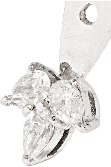 Yvonne Léon - 18-karat White Gold Diamond Earring - one size