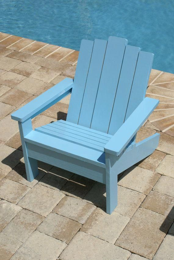 Childrens Clic Wooden Light Blue Adirondack Chair 120 W Free Shipping Perfect For The Summertime Comes In An Ortment Of Colors
