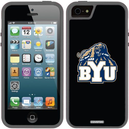 So Cool -  BYU Mascot design on a Black iPhone 5s / 5 Guardian Case by Coveroo / http://livinglds.com/byu-mascot-design-on-a-black-iphone-5s-5-guardian-case-by-coveroo/