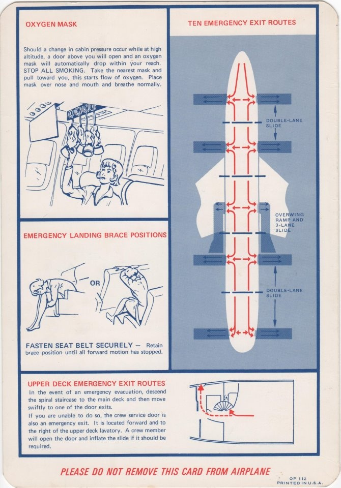 25 best Airplane Safety Card images on Pinterest | Airplanes ...