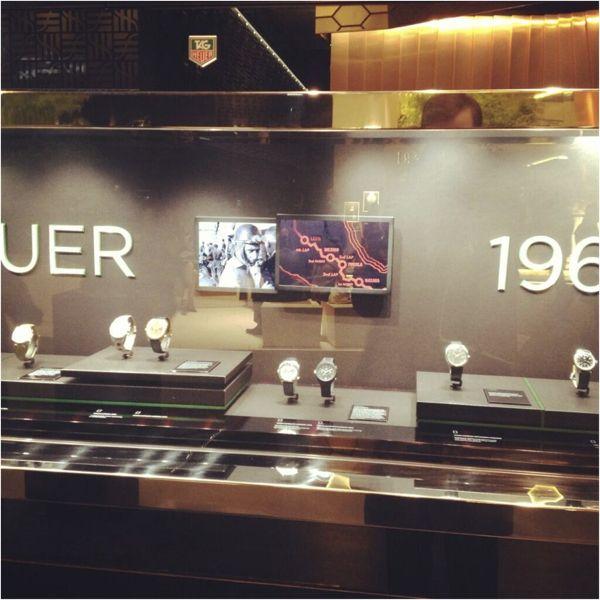 TAG Heuer display at Baselworld 2013