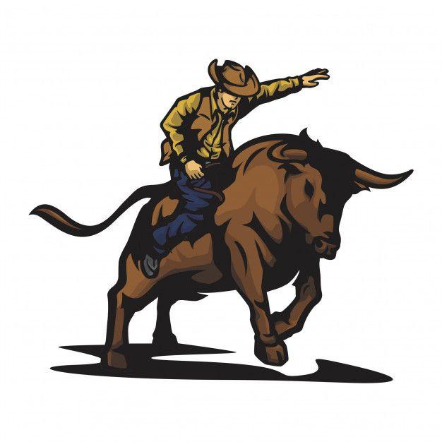 Vetor De Touro De Rodeio Em 2020 Com Imagens Rodeio Vetores