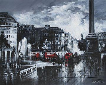 """Trafalgar Square B & W by Csilla Orban  Original Box Canvas  £1995  30 x 24"""""""