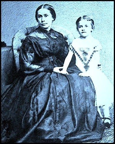 Mary Anna Jackson with her daughter Julia. Many, many children who where waiting for their father's to come home from the War grew up never knowing them. Julia was one.