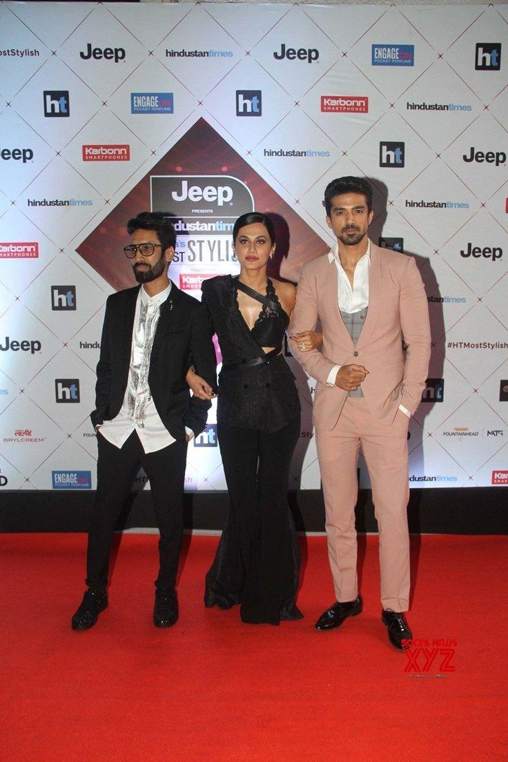 "Mumbai: ""HT India's Most Stylish Awards"" Taapsee Pannu and Saqib Saleem #HTMostStylishAwards2018 - Social News XYZ"