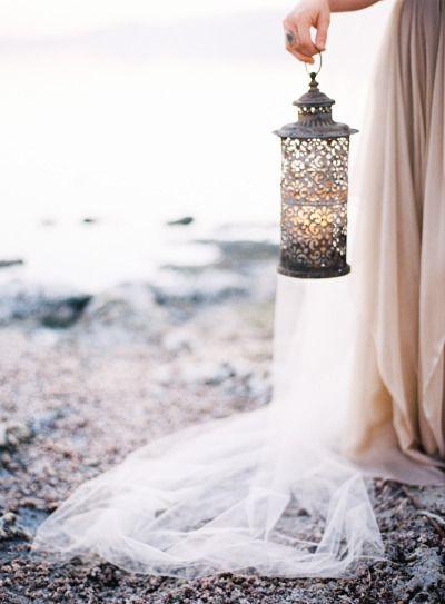 Beautiful lantern: http://www.stylemepretty.com/2015/03/13/breathtaking-seaside-wedding-inspiration/ | Photography: Jen Wojcik - http://www.jenwojcikphotography.com/