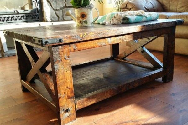 """43"""" Rustic X Coffee Table 