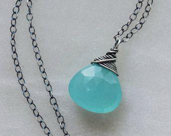 VENDITA lunga collana in argento collana di diamanti di mbfjewelry