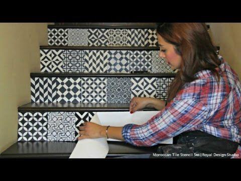 Tile Stencils for Walls, Floors, and DIY Kitchen Decor | Royal Design Studio