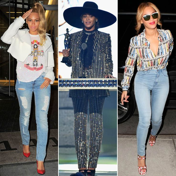 """Вчера в Нью-Йорке состоялось вручение премии CFDA Fashion Awards, которую еще называют """"Оскаром"""" в мире моды. Звание """"Иконы стиля"""" получила Бейонсе. Она действительно умеет выглядеть эффектно и стильно не только в вечерних нарядах, но и в стиле кэжуал #fashionable #Beyonce looks #stylish not only in the #chic #evening #outfit receiving CFDA #FashionIcon award, but also in #casual #blue #jeans #outfits #мода #стиль #тренды #джинсы #модно #стильно #Бийонсе"""