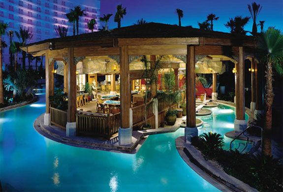 Tropical paradise... in Vegas?! Just when I thought Vegas couldn't get any cooler