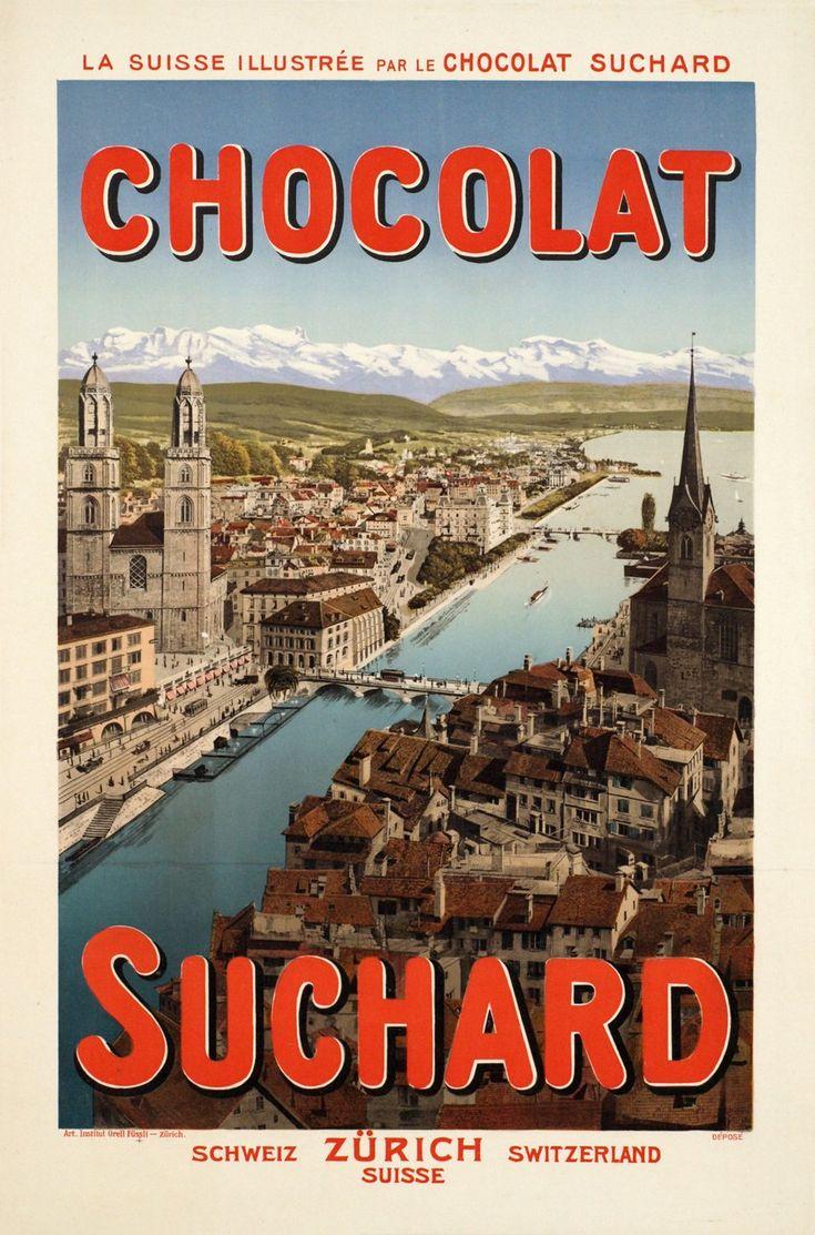 La Suisse illustrée par le Chocolat Suchard, Schweiz Zürich Switzerland. ANONYME (1905 circa)