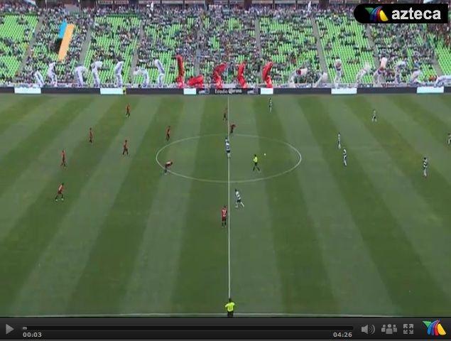 Vídeo del resumen entre Santos vs Atlas partido que corresponde al juego de ida de los Cuartos de Final de la Liga MX Clausura 2013. Marcador Final: Santos 0-0 Atlas.