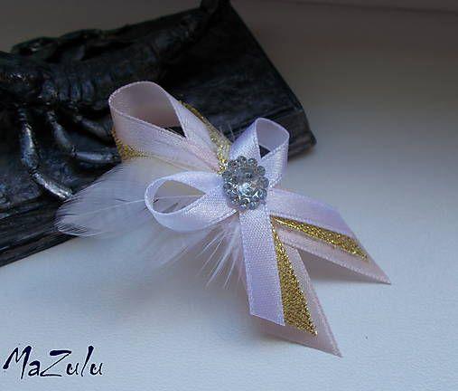 MaZulu / svadobné pierko s perím malé