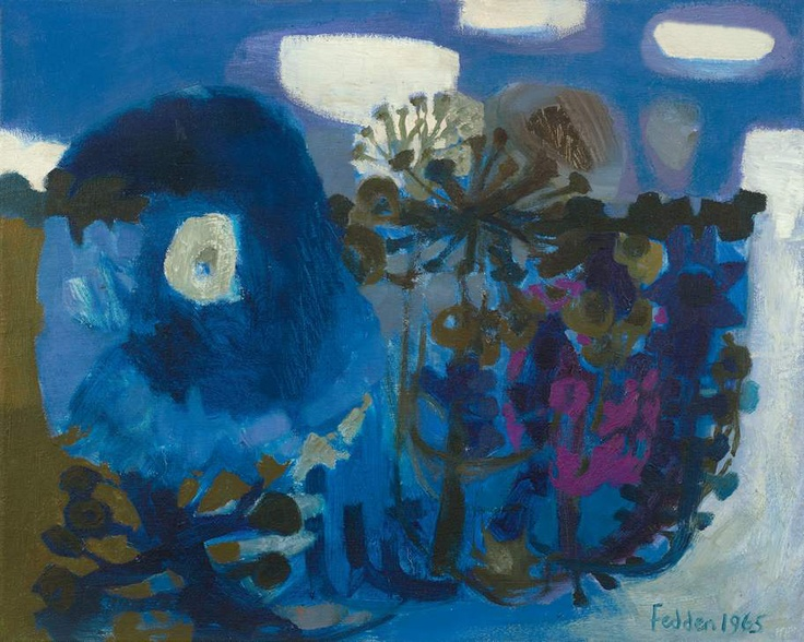 'Blue flowers' (1965) by Mary Fedden