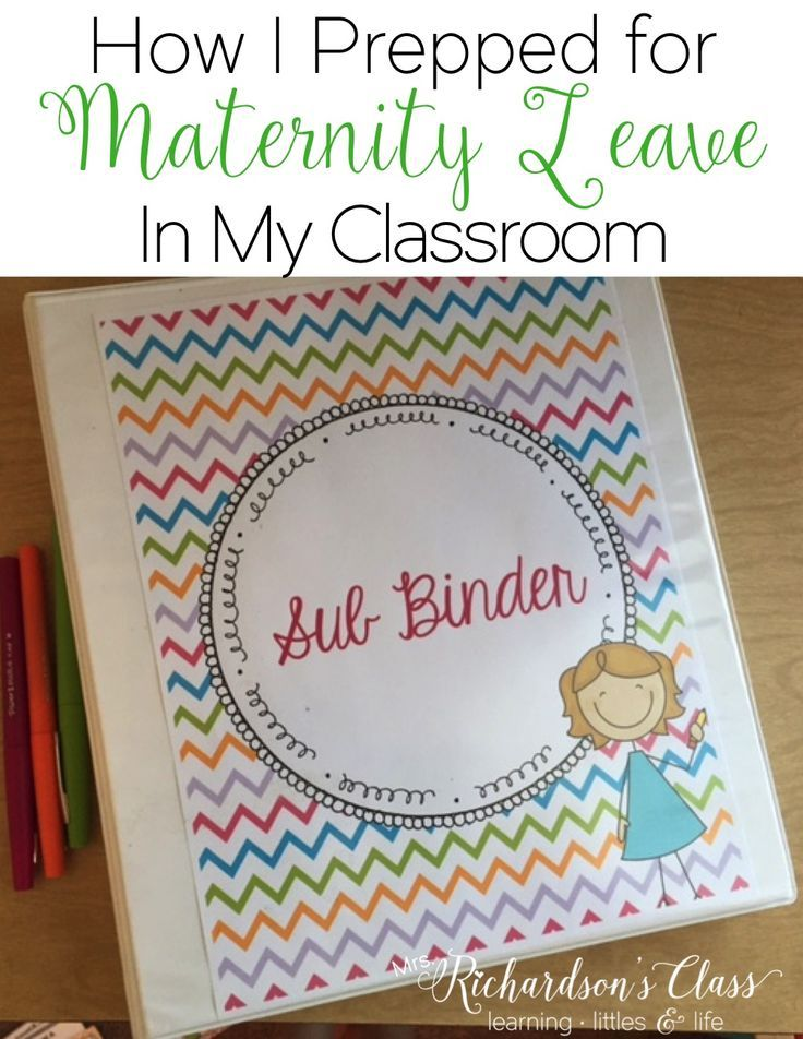 This teacher maternity leave post shows how she let her sub know EVERYTHING!