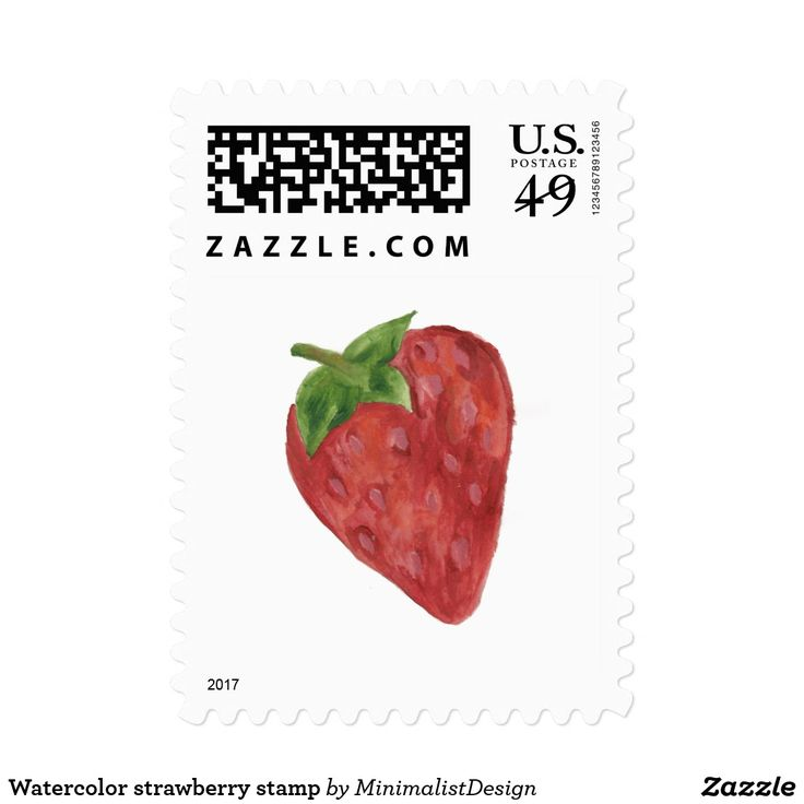 Watercolor strawberry stamp Embellish letters, photos or envelopes with this set of strawberry watercolor stamps! strawberry stamps, fruit stamps art, beautiful fruit stamps, minimalist strawberry stamp, strawberry watercolor stamps, strawberry fruit art, strawberry watercolor painting, postage stamps online buy, custom stamps online, custom stamp order, Copyright © 2017, Anca Ioviţă #zazzle #minimalism