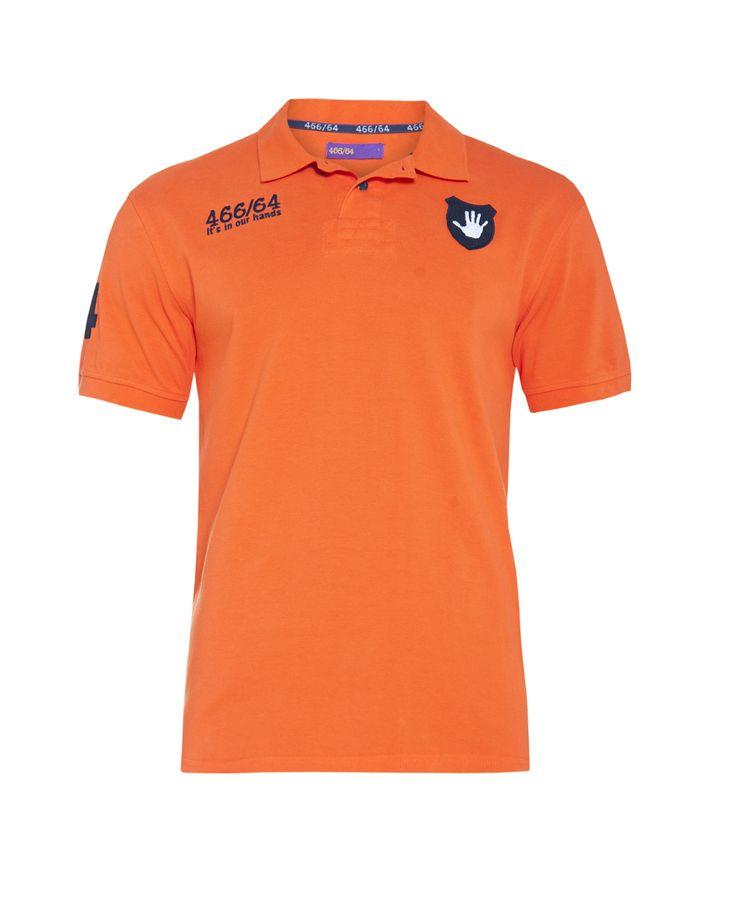 Men's number golfer, orange. Available at www.46664fashion.com