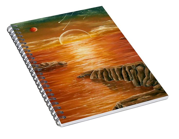 Spiral Notebook,  stationery,school,supplies,cool,unique,fancy,trendy,awesome,beautiful,design,unusual,modern,artistic,for,sale,items,products,office,organisation,sunset,coastal,orange,brown,colorful