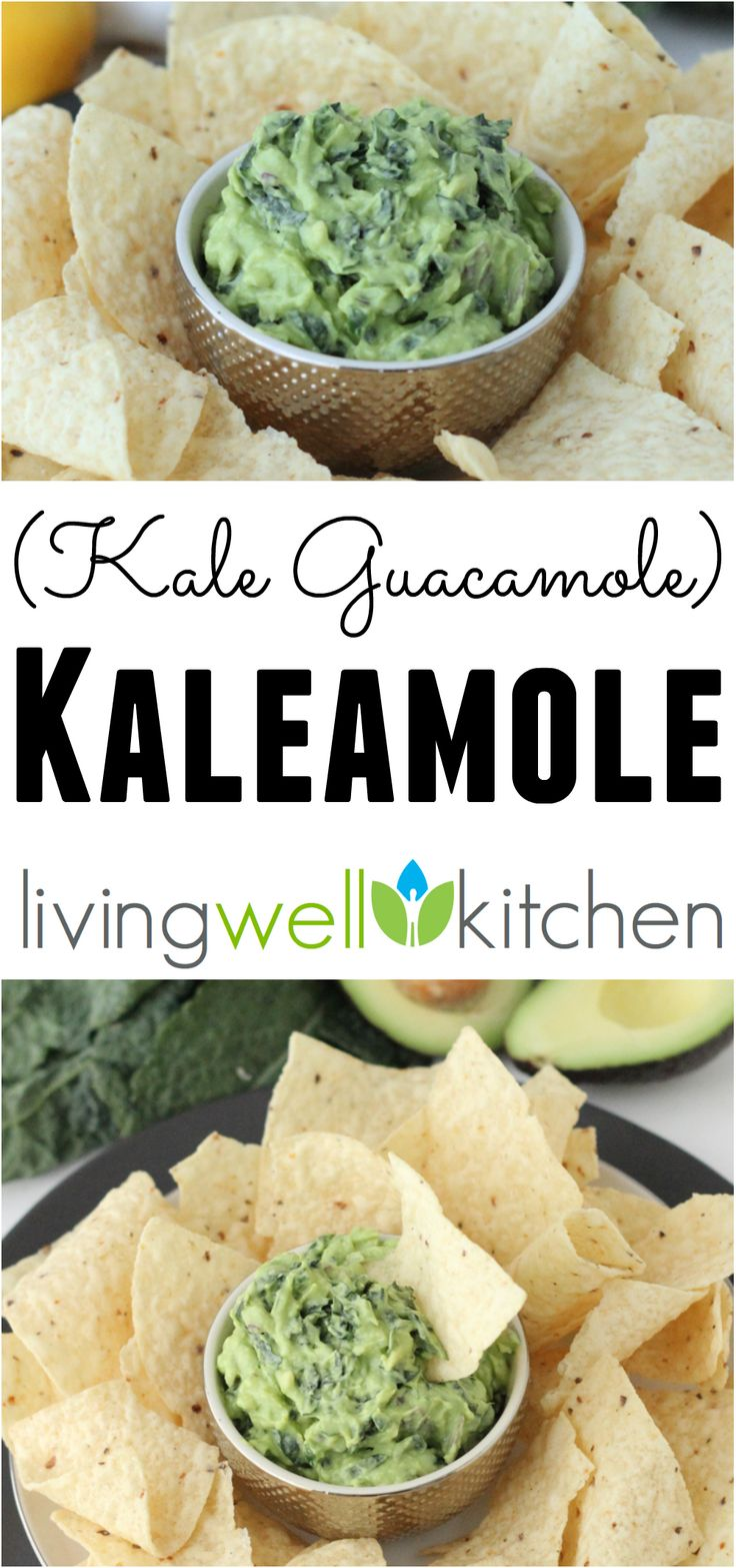 Guacamole made with kale is a nutritious and delicious appetizer, dip, snack or condiment perfect for anytime, day or night! Kaleamole is an easy, healthy vegetarian recipe