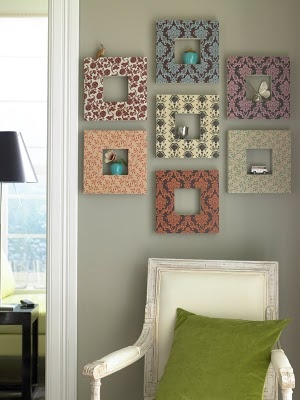 Love Live Survive Home: Ideas For Decorating With Leftover Wallpaper