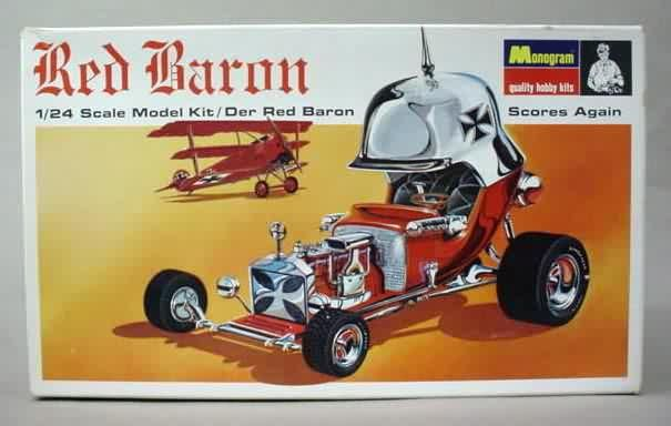 Red Baron Plastic Model Kits   1968 Red Baron model kit by Monogram