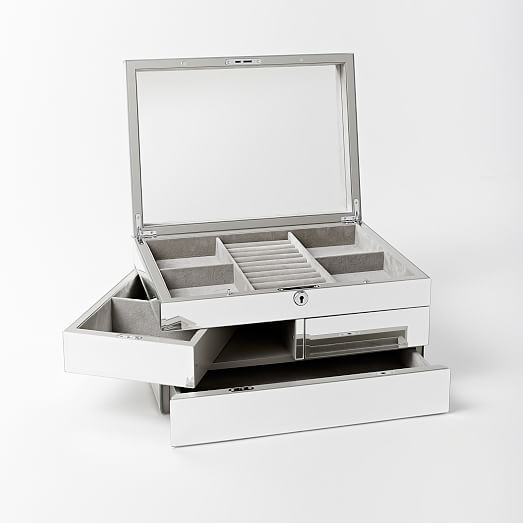 Grand Mirrored Jewelry Box - FOR OVER TALL DRESSER PIECE BY WINDOW??