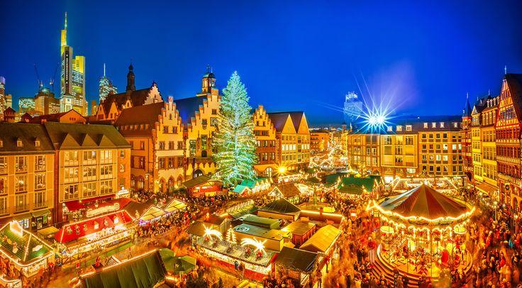 Mercadillo de la plaza de Römerberg en Frankfurt, Alemania - Los mejores mercadillos navideños de Europa