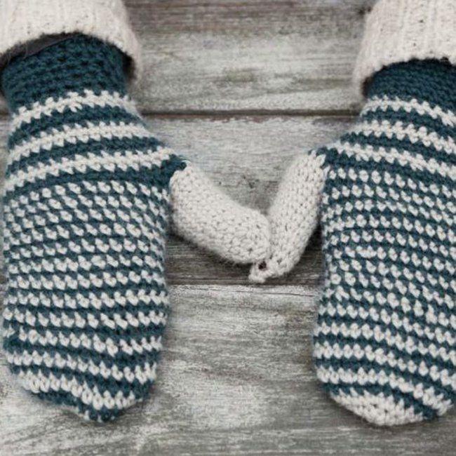 DIY moufles crochet