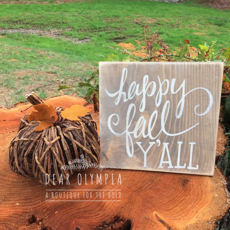 Happy Fall Y'all Painted Sign