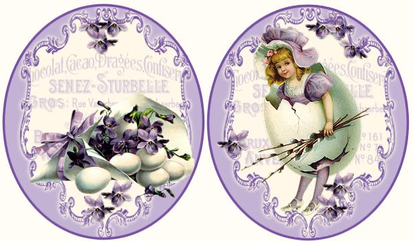 JanetK.Design Free digital vintage stuff- such pretty Easter labels or tags!
