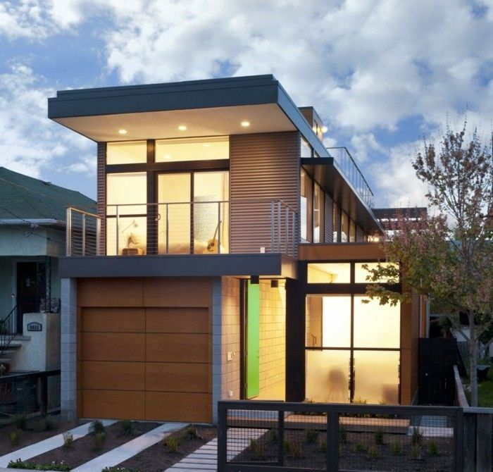 Fertighaus Architektur Zweistöckig Und Modern