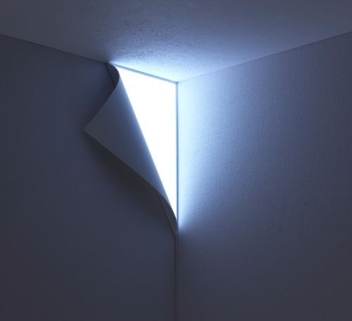 Peel Wall Light Looks Like Your Wall Is Peeling Off To Reveal Wonders Beneath - OhGizmo! Yes.